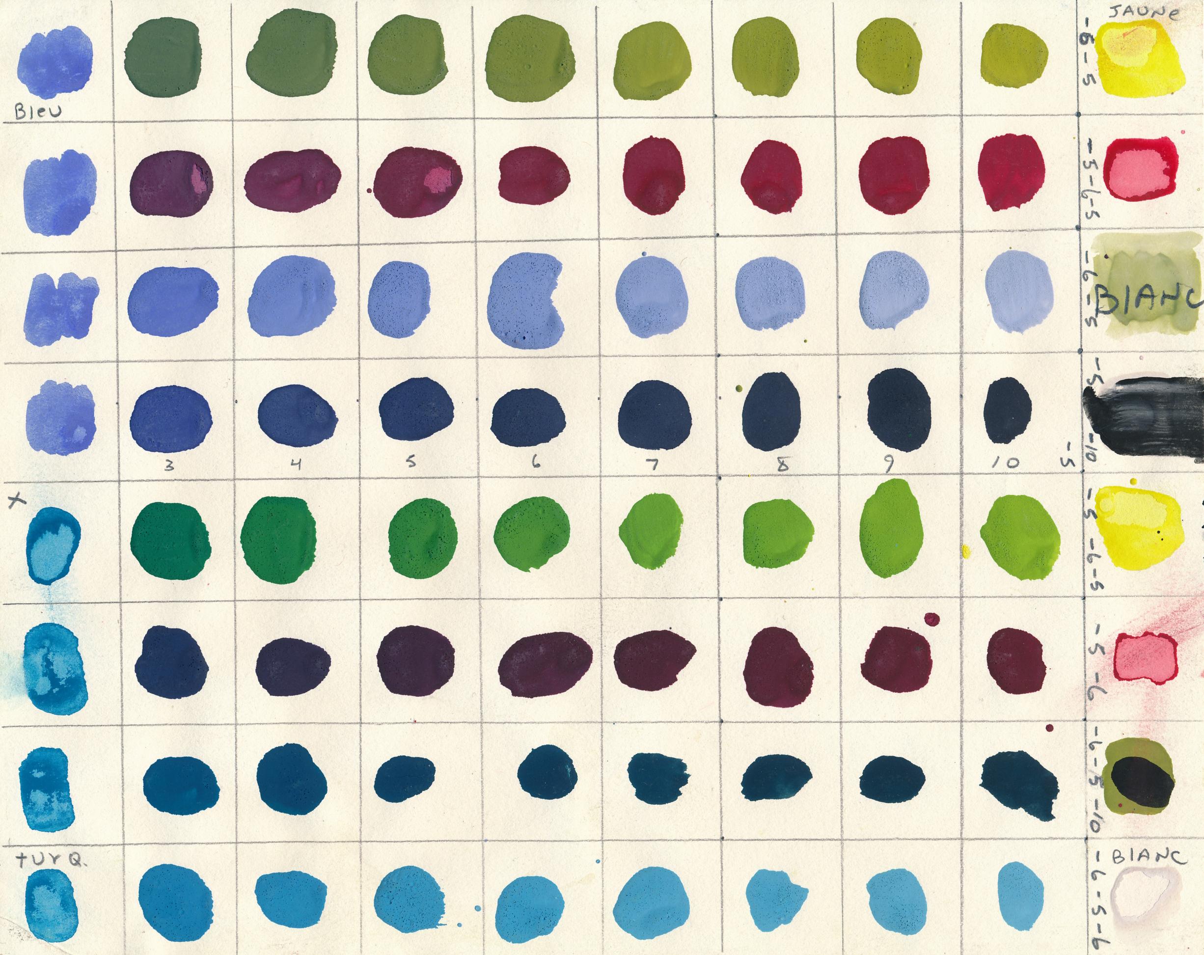 Document original : Test de couleurs 1. /  © Yvon Gallant 1982