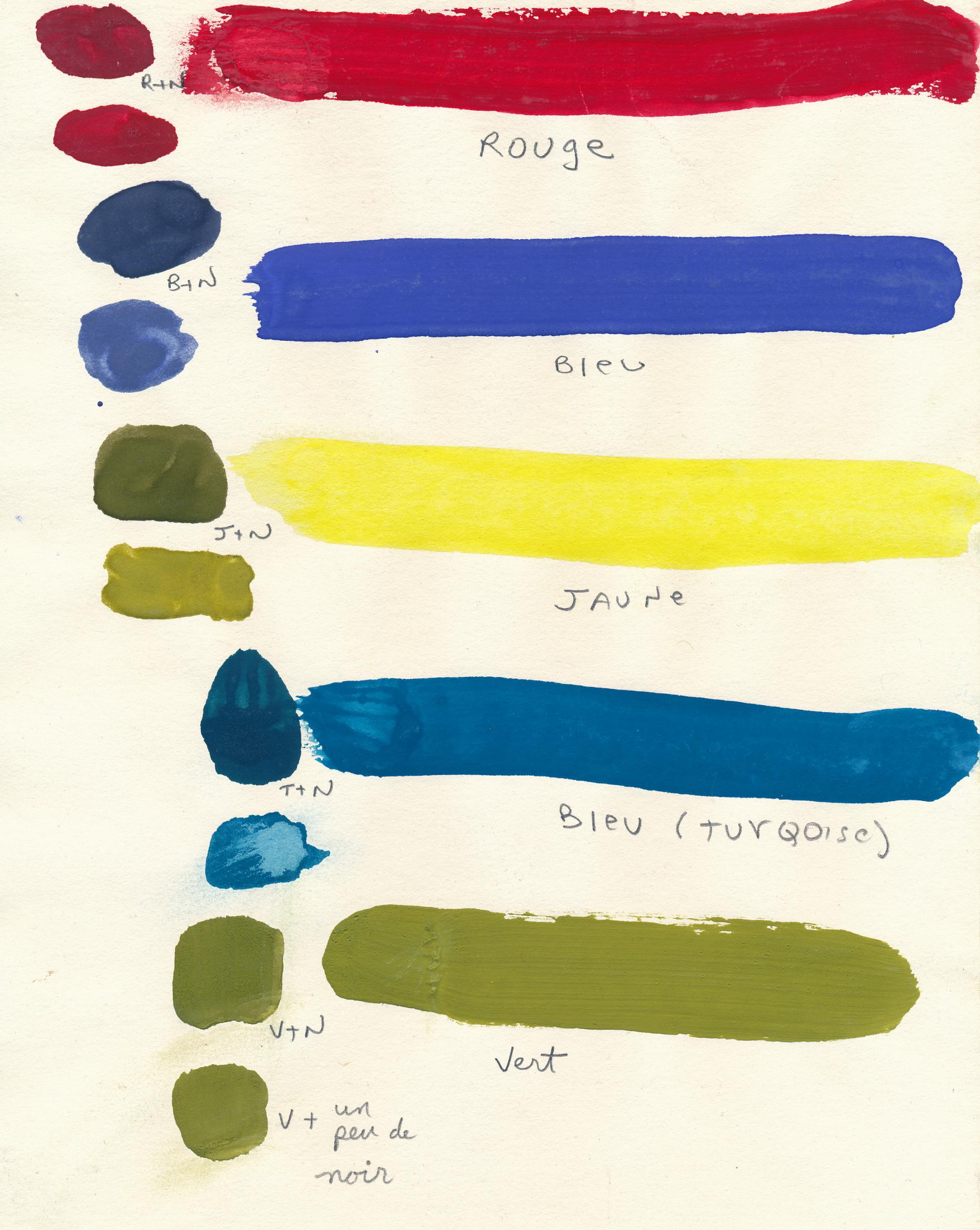 Document original : Test de couleurs 2. /  © Yvon Gallant 1982