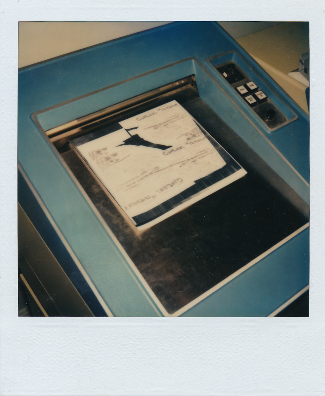 Machine photolaser  -  Document Polaroid original.  /   © Herménégilde Chiasson 1982