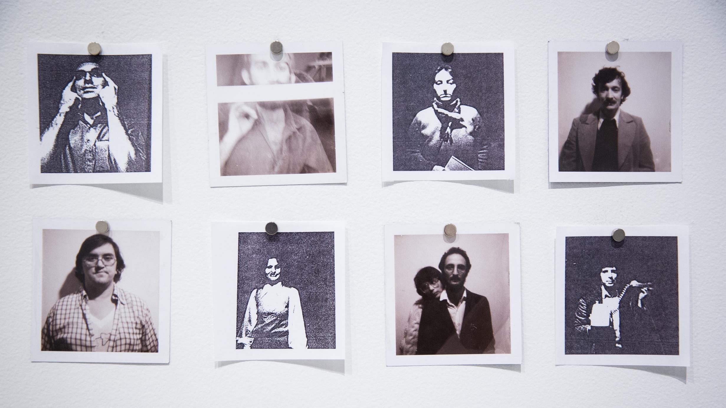 Montage de documents originaux et documents passés dans la machine photolaser. / © Elise Anne LaPlante 2015 / Photo : Annie France Noël