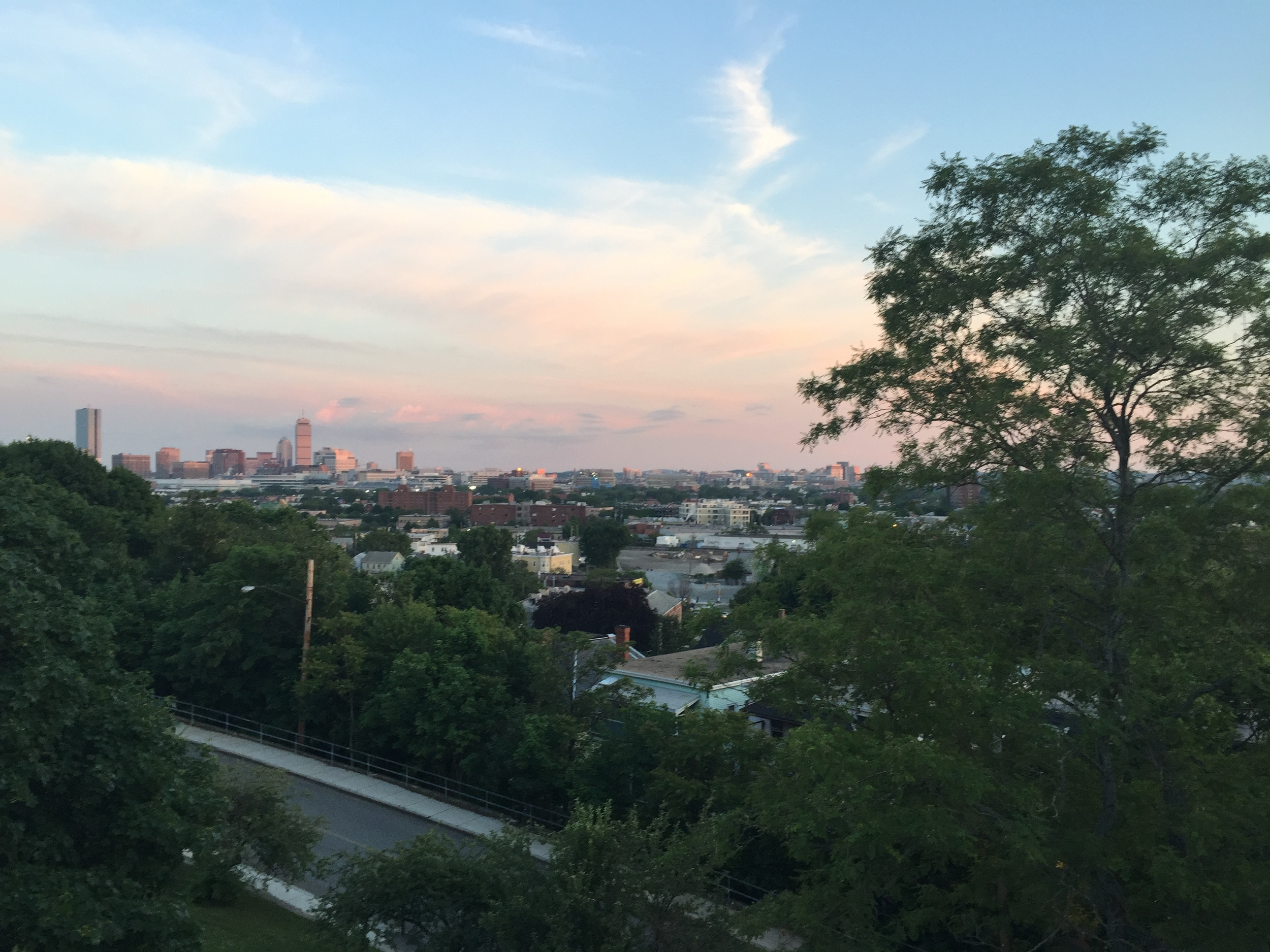 An evening walk to Prospect Hill yielded a beautiful view of Boston.