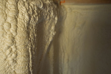 Spray foam insulation.
