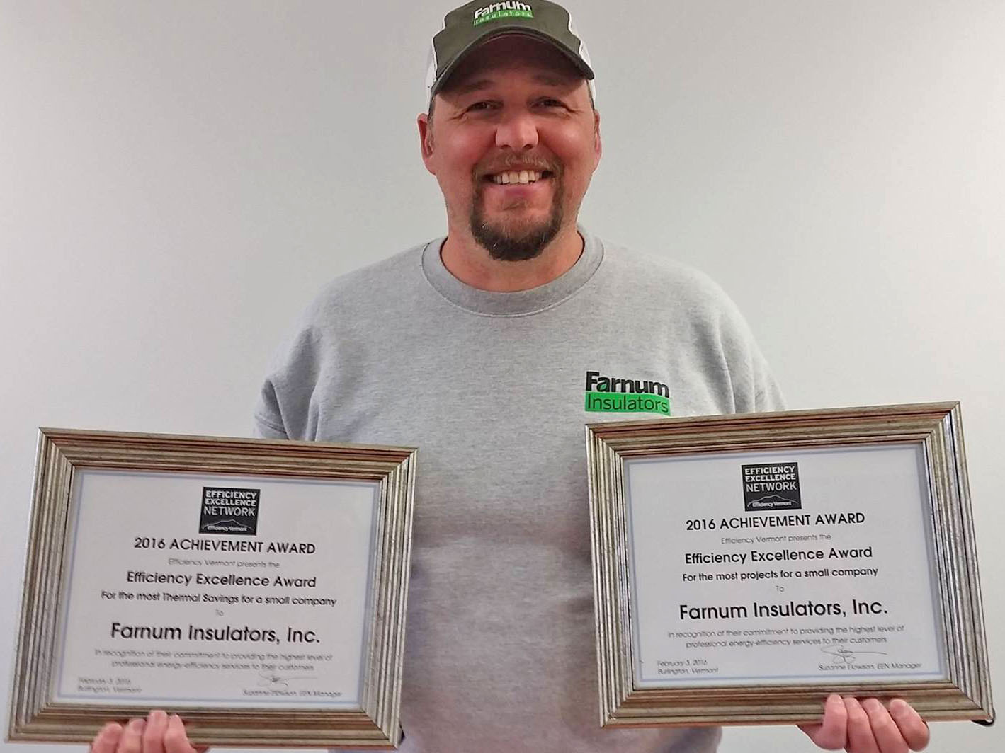 Chad displaying certificates.