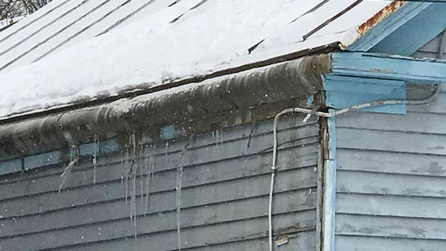 Are you in the icicle making business?  If your home looks like this, then you are! Although pretty, icicles are a clear sign of heat loss.