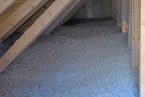 CELLULOSE INSULATION IN AN ATTIC -