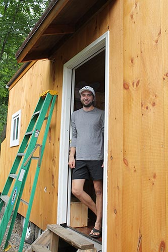 Spencer Knickerbocker and his tiny house