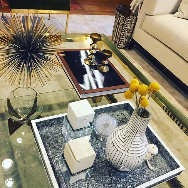 Getting prep'ed for photo shoot on Saturday. Coffee table styling ✔️. #bestclientsever #photostyling  #interiordesign