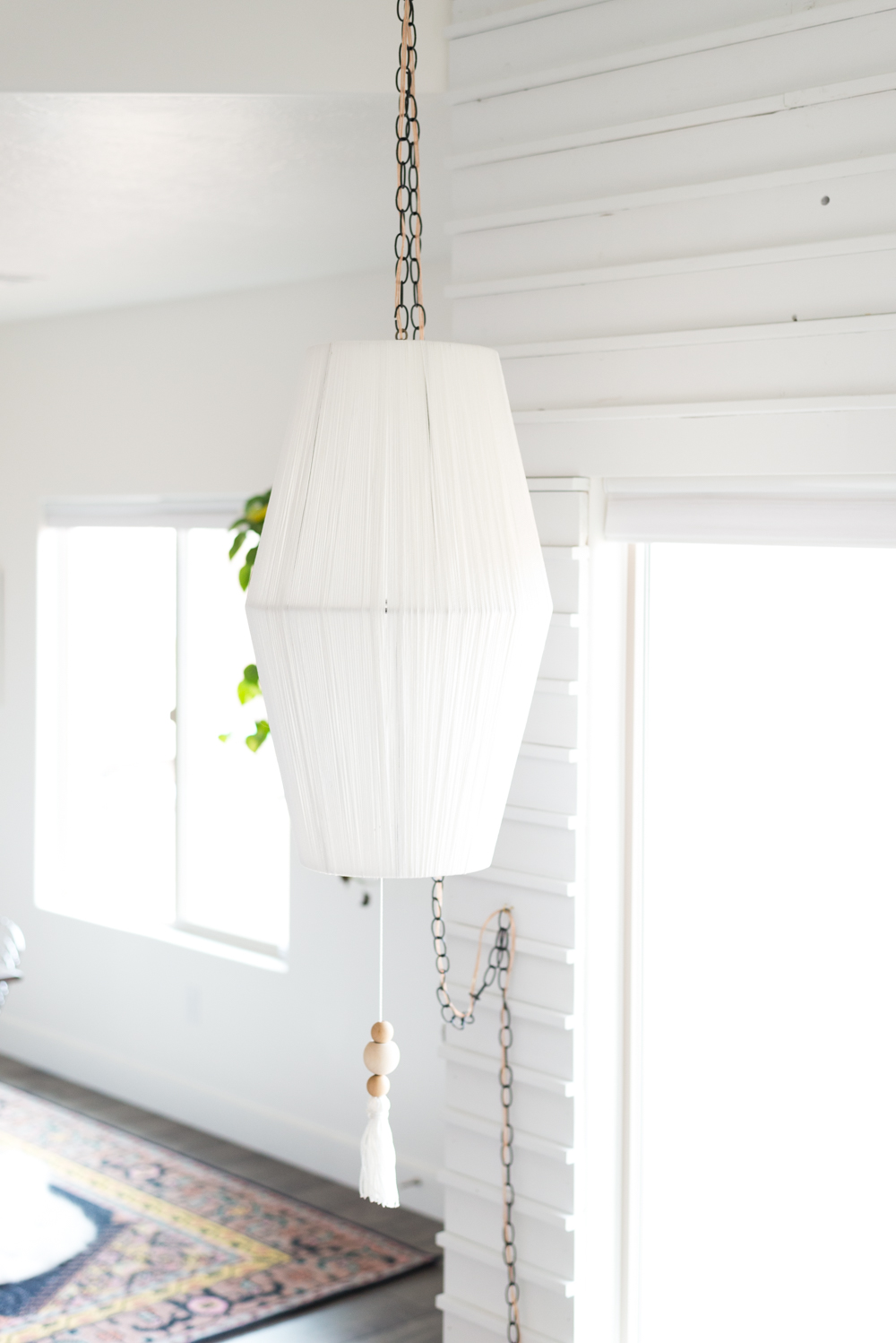 DIY Rope Wrapped Pendant by  Vintage Revivals