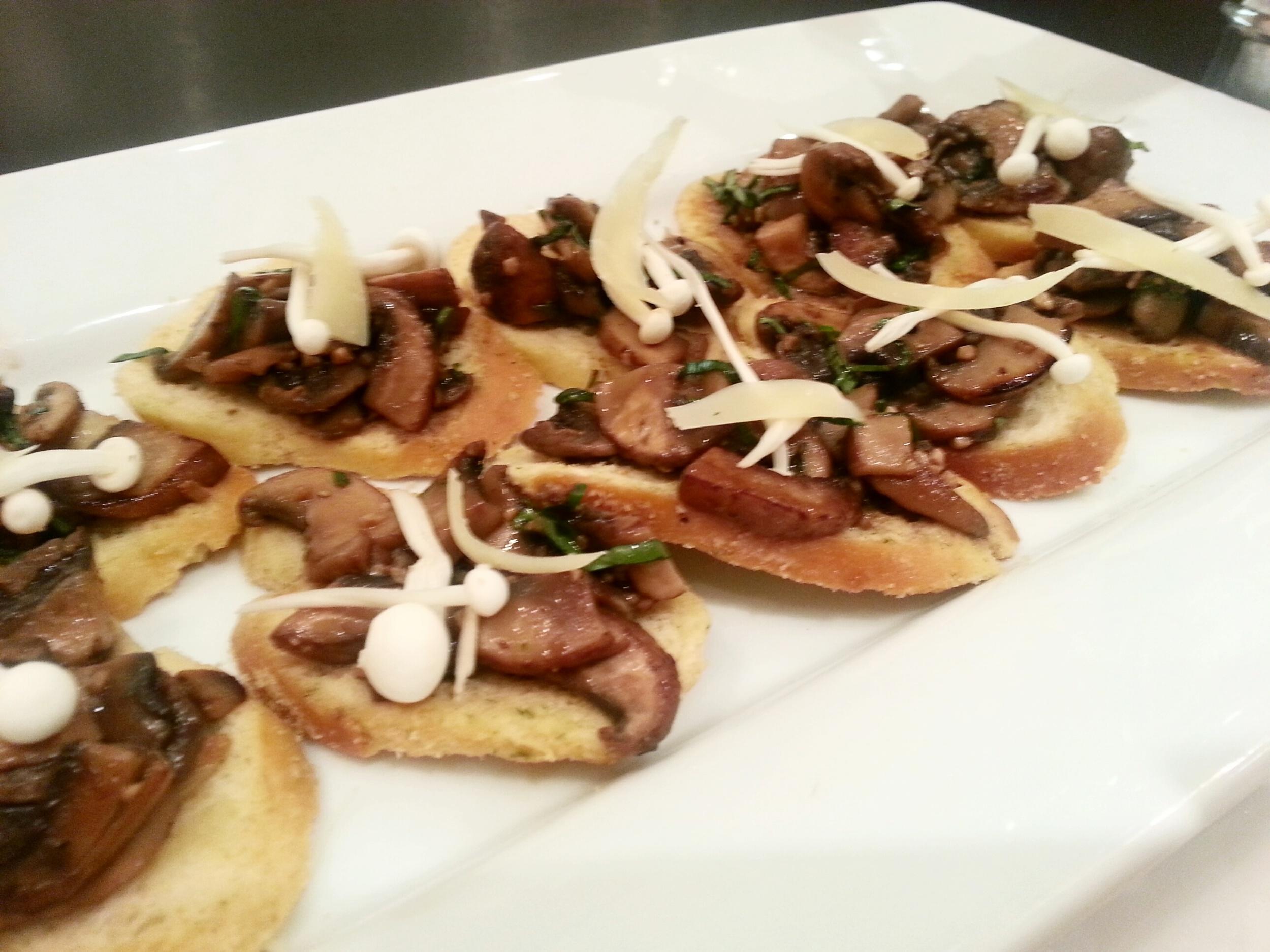 Savoury Mushroom Toasts with Horseradish