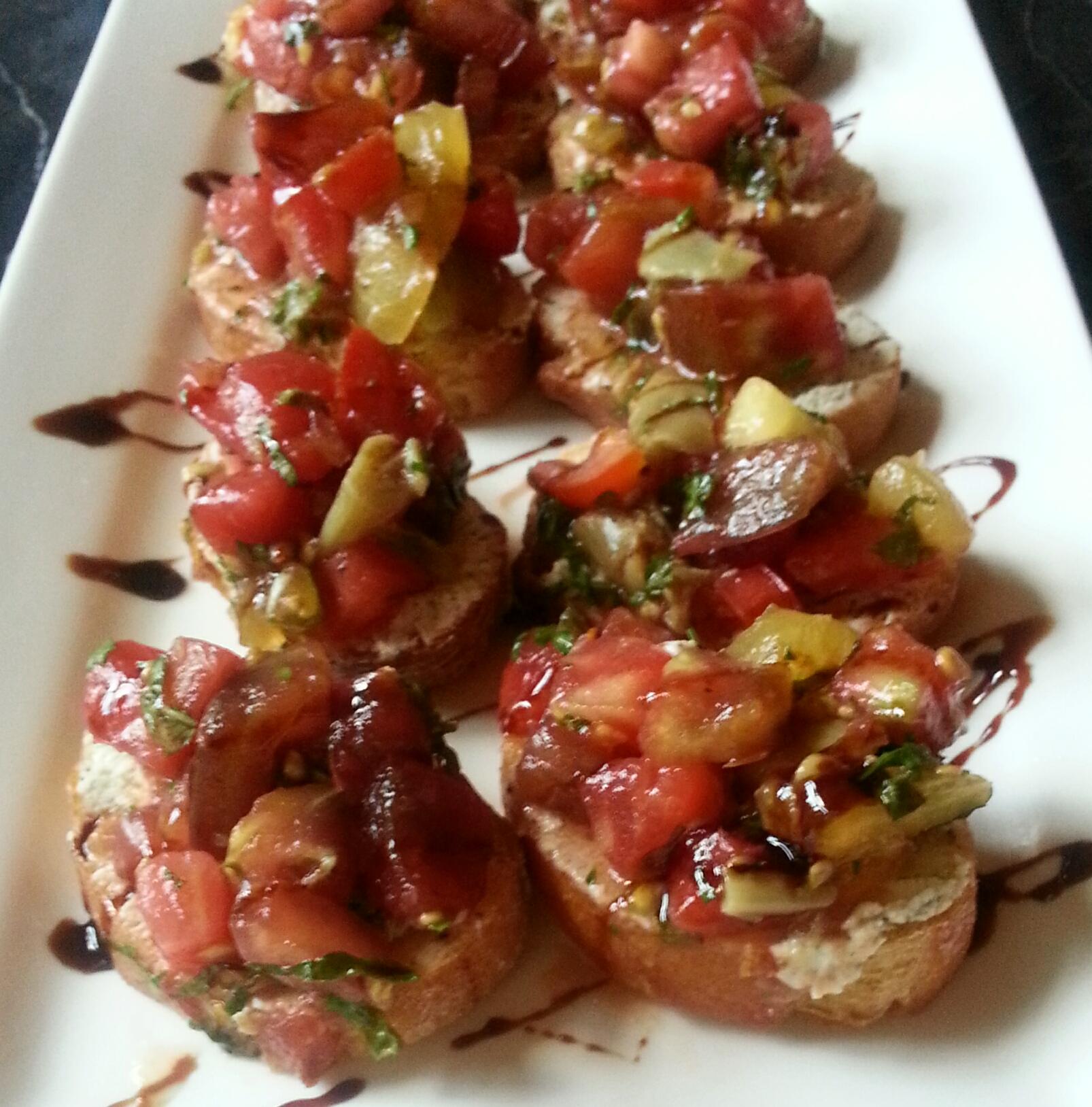 Triple Tomato Bruscetta