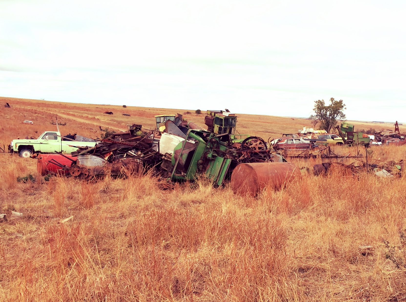part of the scrap pile at our farm
