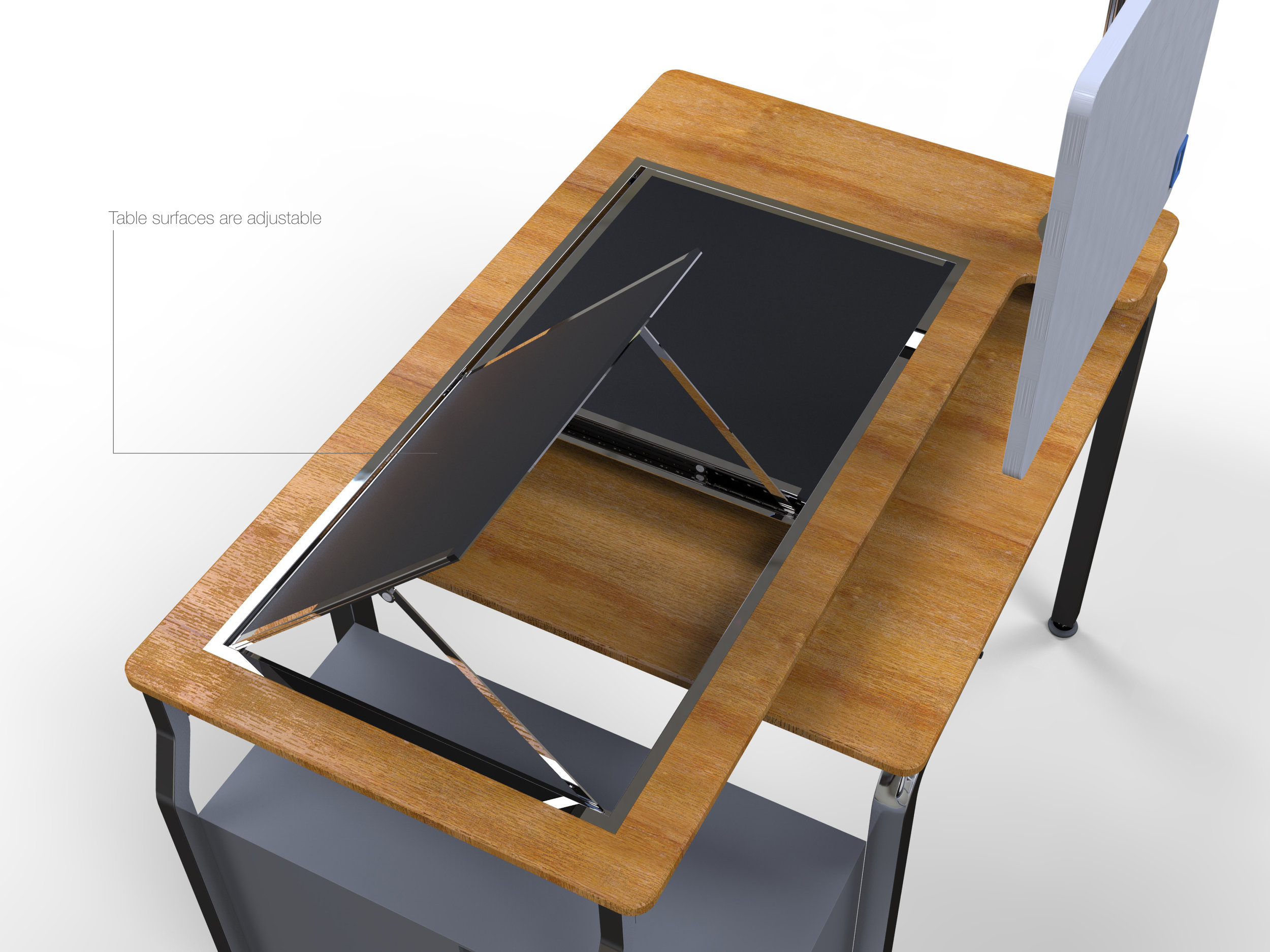 Axis Desk feature render