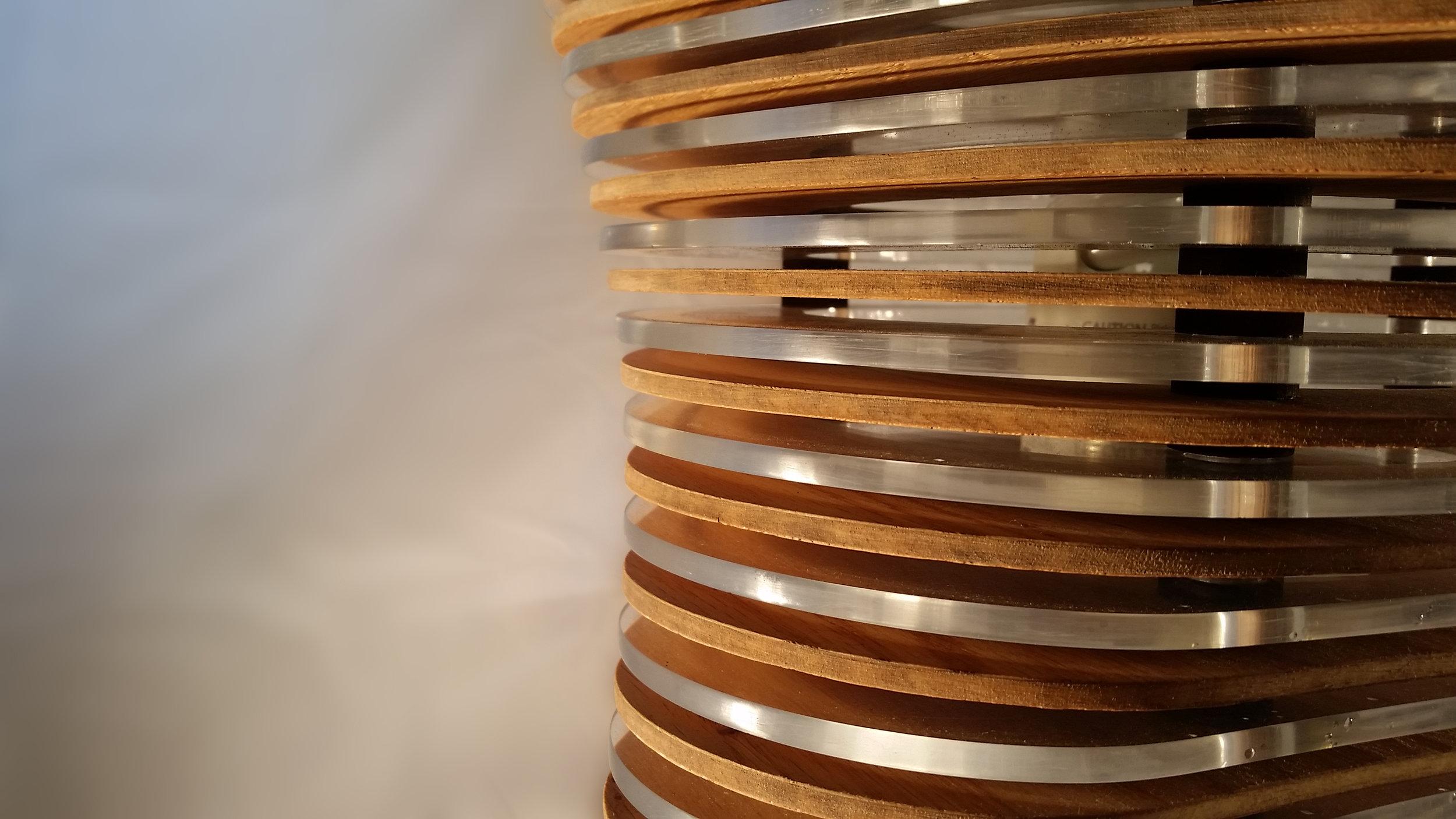Lamp shade detail shot.
