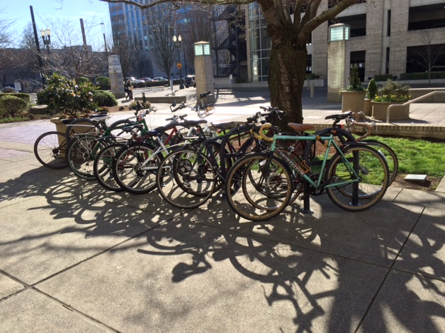 Like auto parking, the proper design, location, and management of bicycle parking is a key component in a comprehensive parking plan.