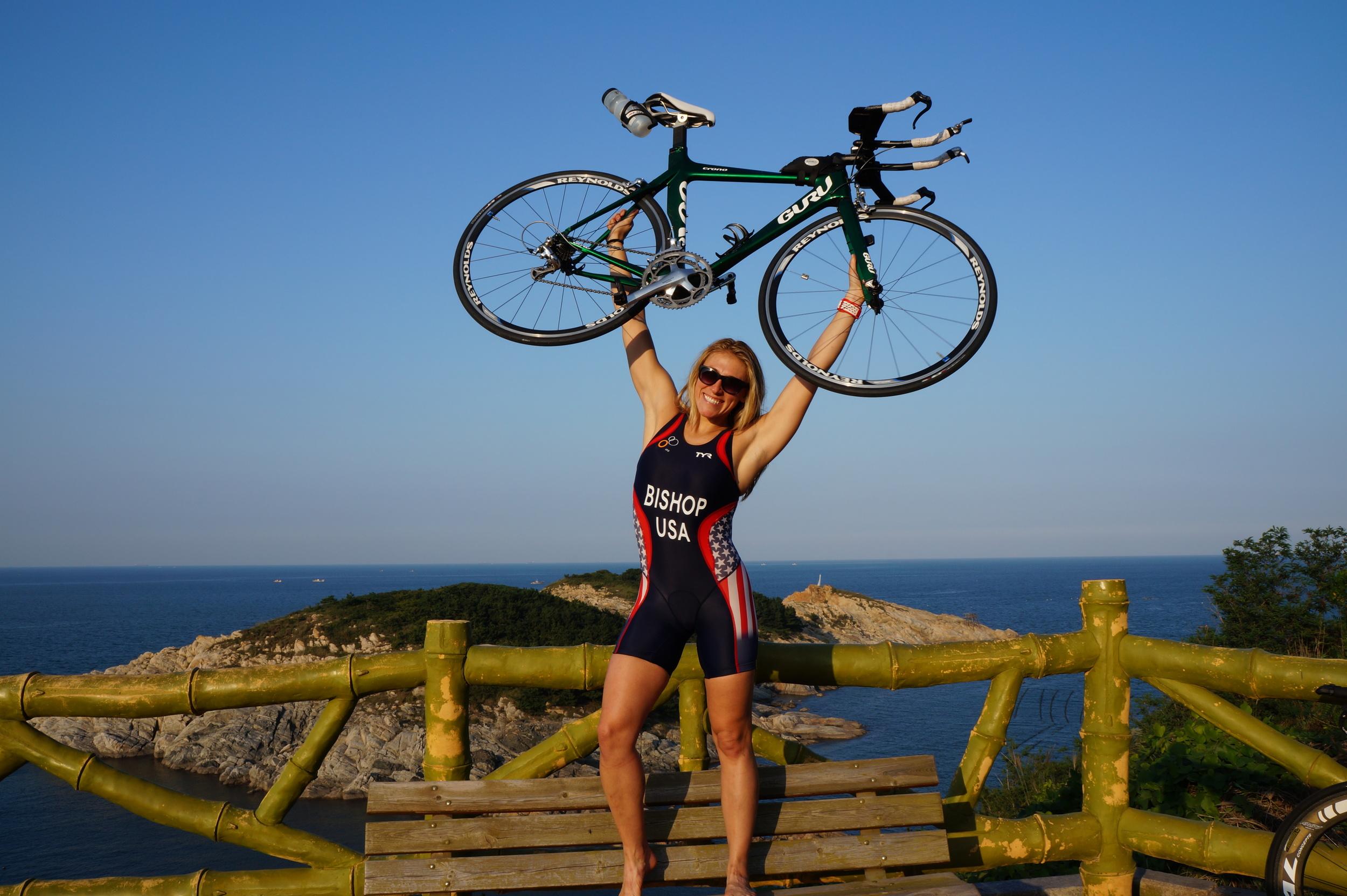 Triathlon - Worlds Team USA w Bike.JPG
