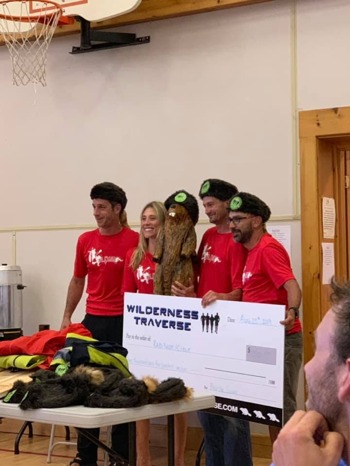 Collecting our winnings with our new teammate, Bob the Beaver!