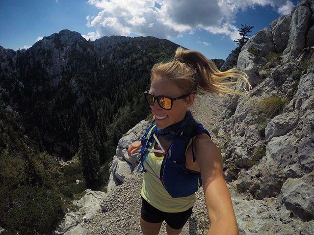 Slightly precarious, yet totally delightful... my type of trail. . @gopro #gopro #tbt #croatia #trailrunning #takemeback