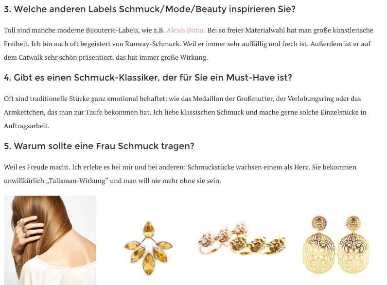 Diva online magazine eambrandis jewellery feature report young designer vienna