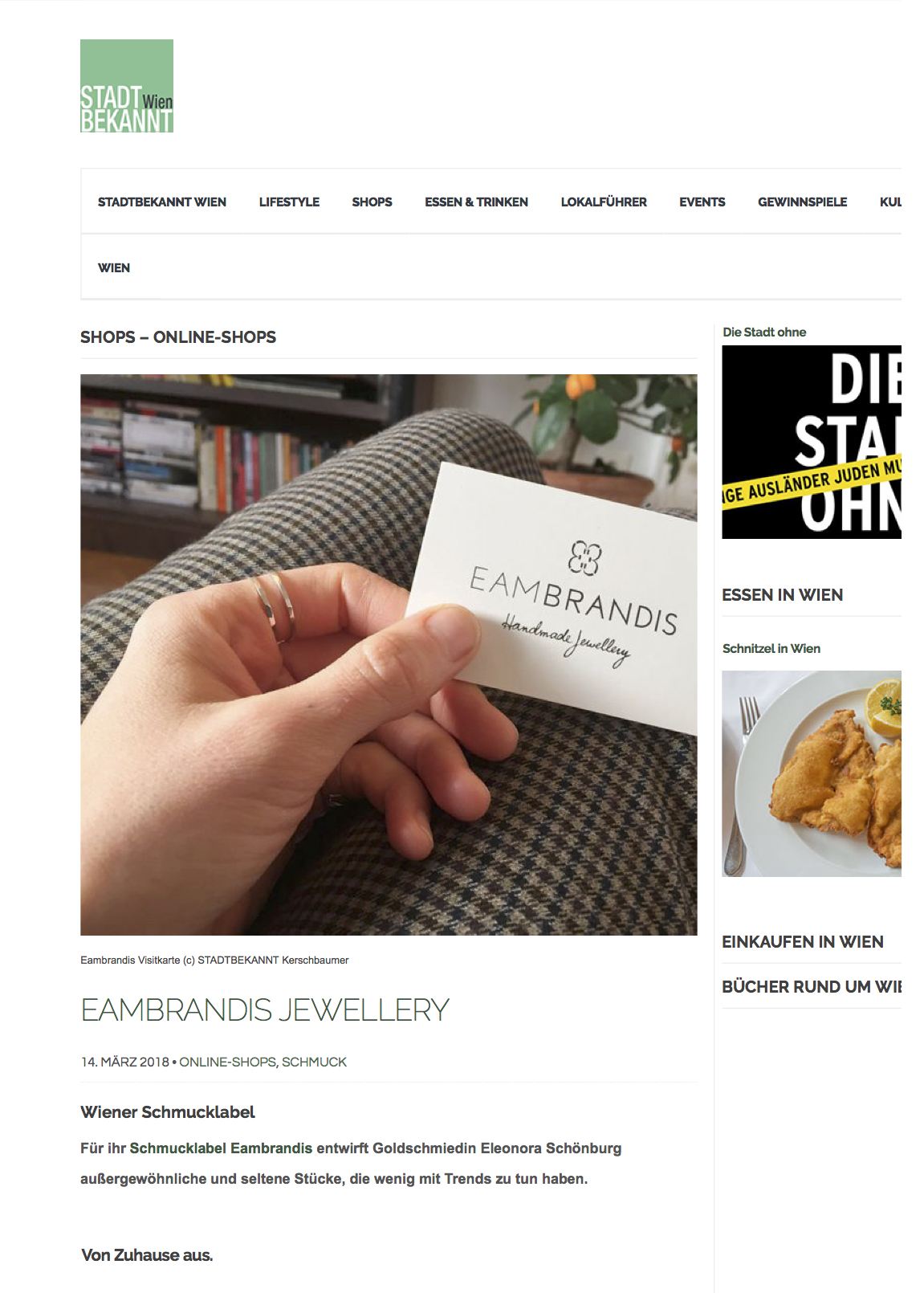Press Appearances Of Eambrandis Jewellery And Its Designer Ella