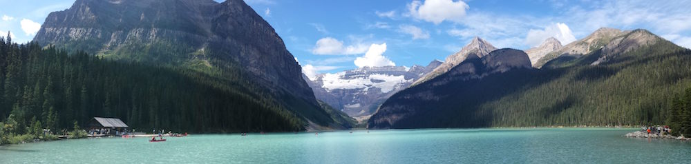 A panoramic photo of the mountains in Banff Alberta, where Steve Bilodeau recorded Ascent.