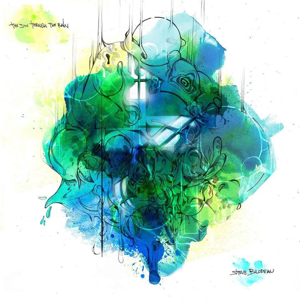 Album artwork for  The Sun Through The Rain , Steve Bilodeau's third album. Album artwork by Dom Laporte.