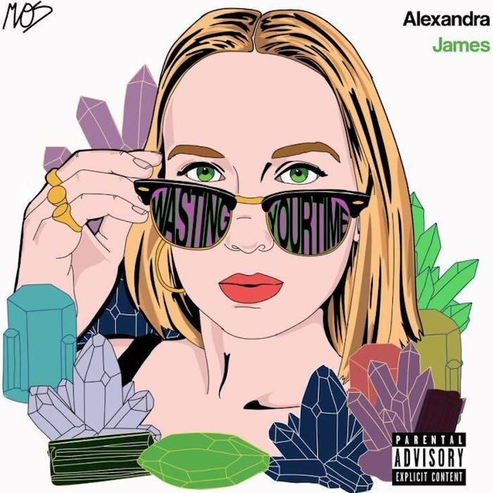 "Artwork for Alexandra James' new single ""Wasting Your Time""."