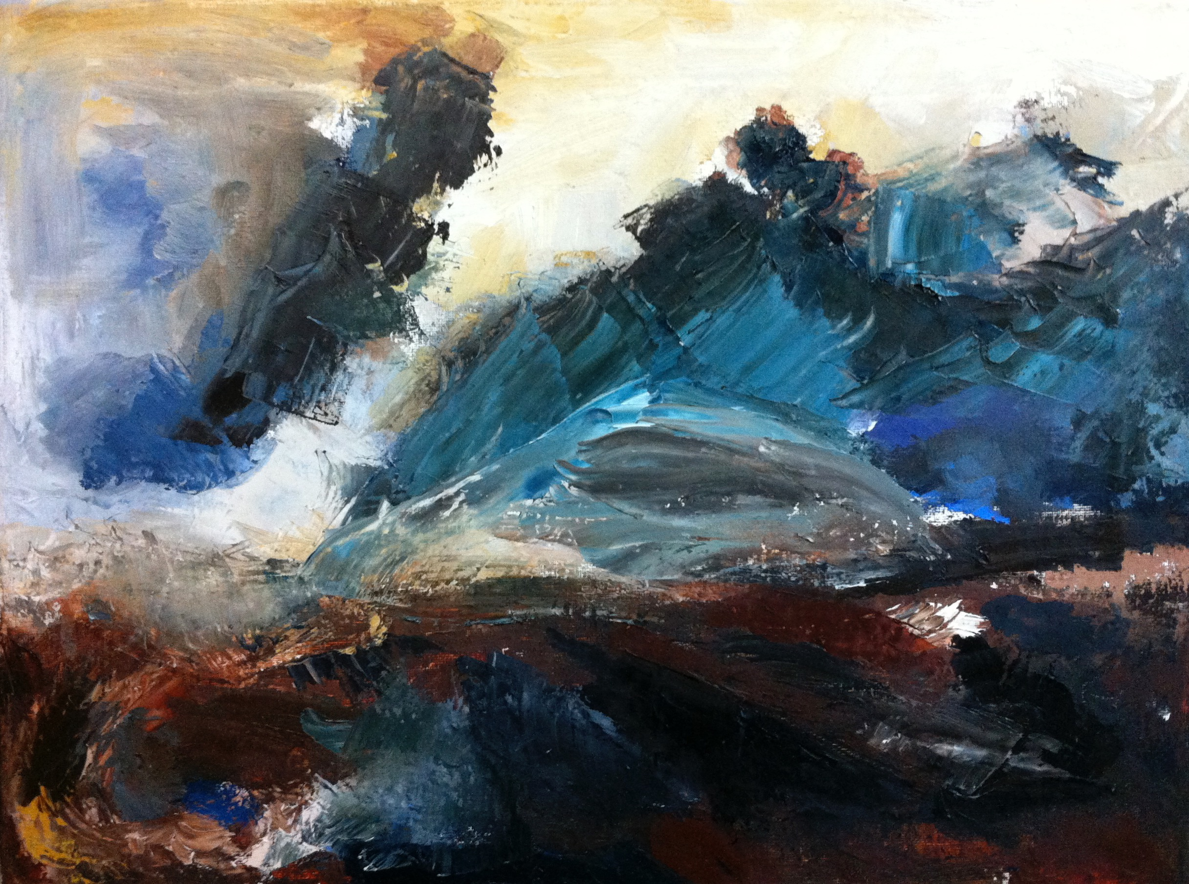 """Study of Turner's """"Rough Sea with Wreckage"""""""