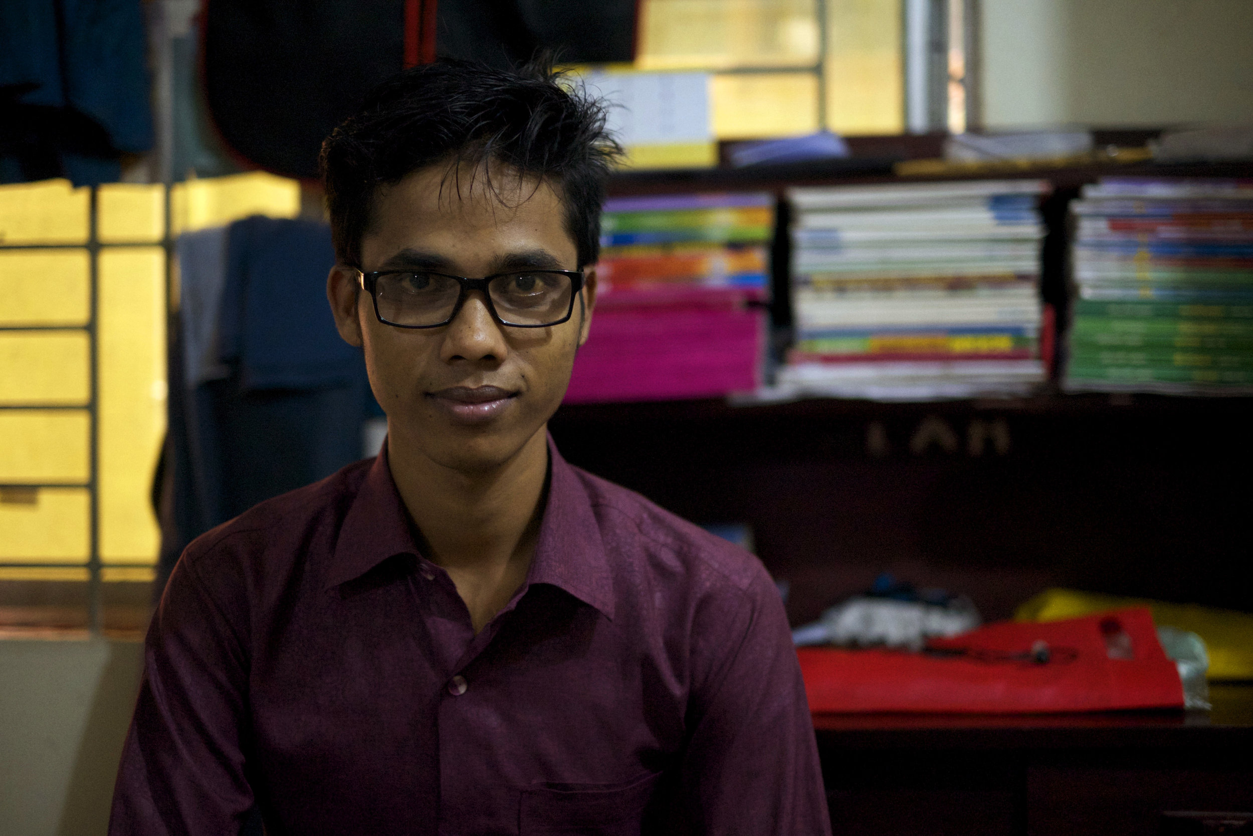 Ayat Ullah, 20, had dreams of becoming a teacher in his hometown of Buthidaung in Myanmar's northern Rakhine State. (Credit: Dene-Hern Chen)
