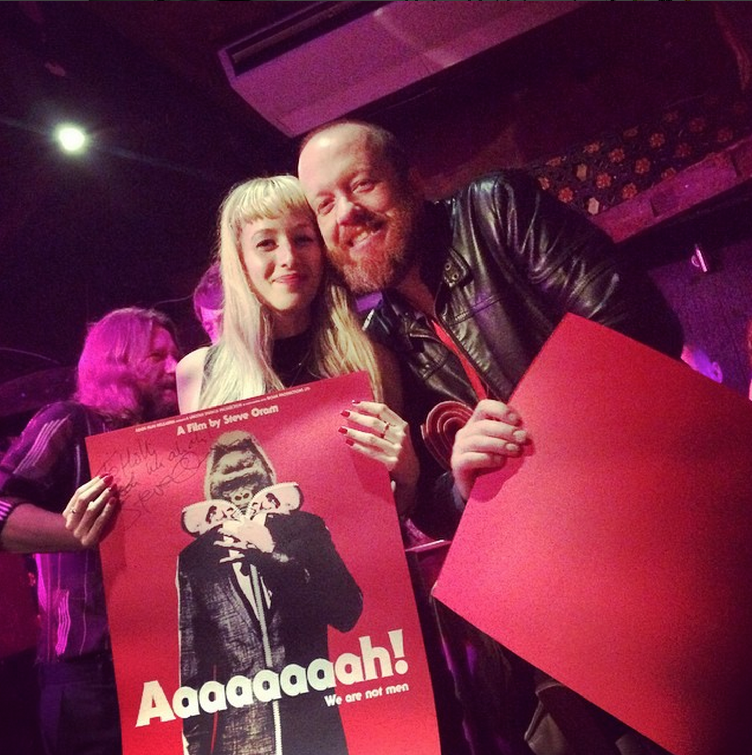 Steve and Holli pictured with the poster at the premiere!