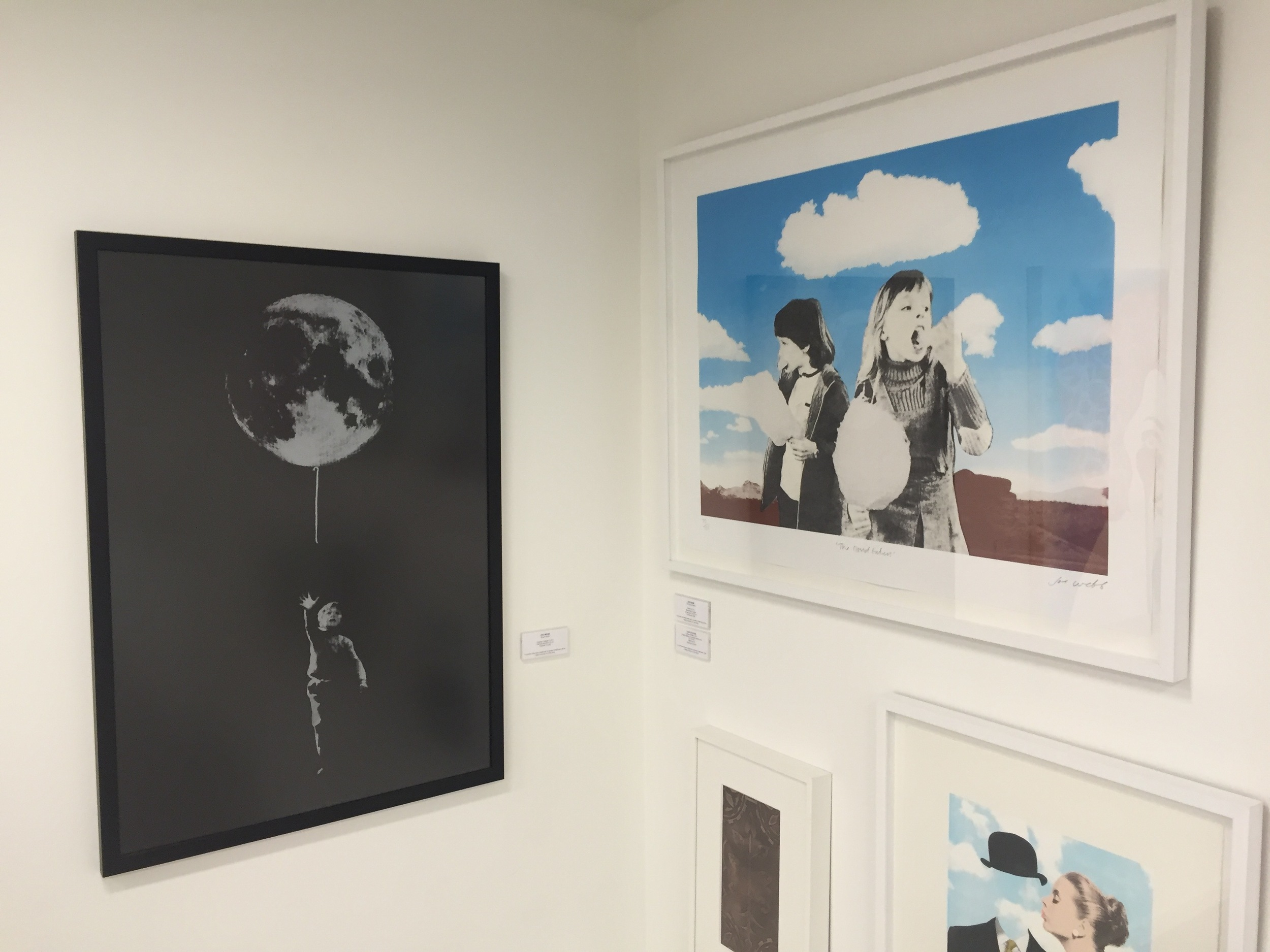 Cloud Eaters on display at the Saatchi Gallery.
