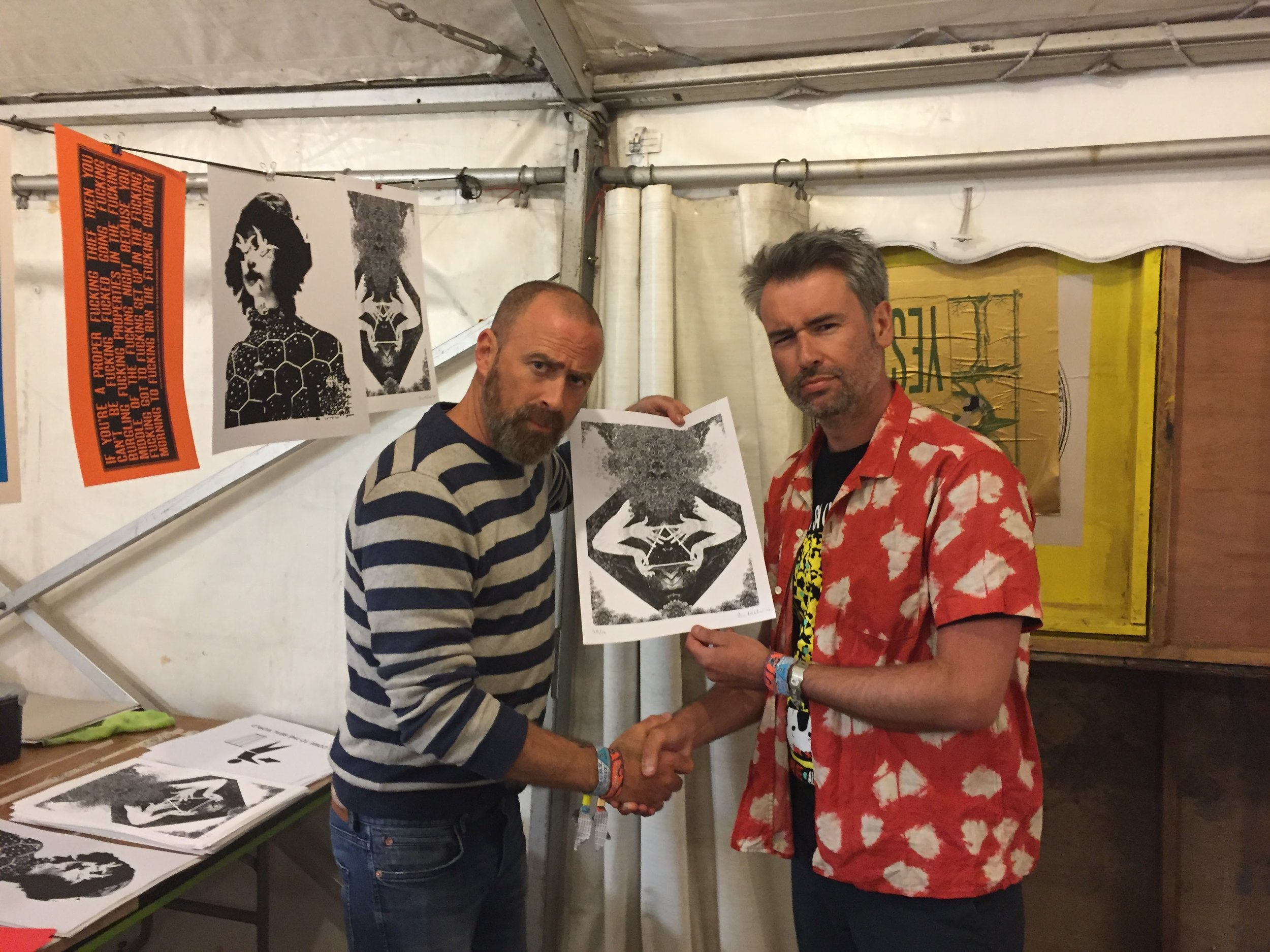 With Dan Hillier