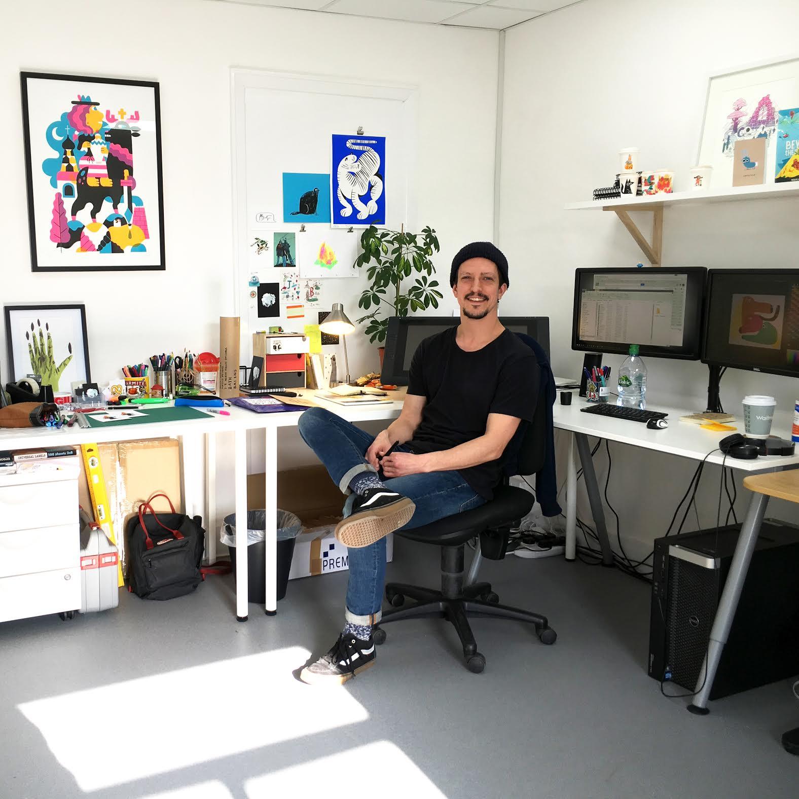 John in his studio
