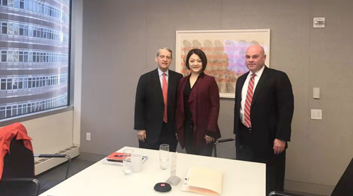 Ms. Yvonne Wang (middle ), Chairman of the Board and CEO of Kiwa Bio-Tech is meeting in the NYC