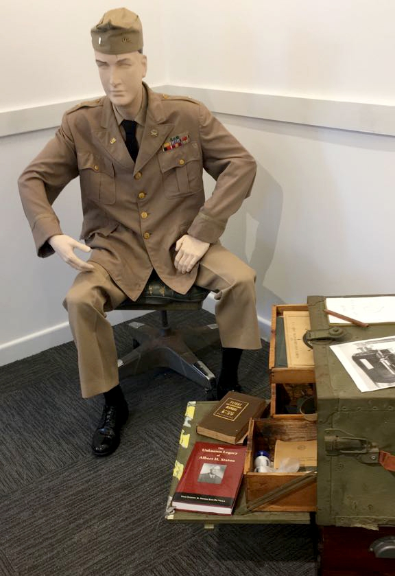 Client Inge Staton was thrilled to report that her book about her father,  The Unknown Legacy of Albert H. Staton , is officially part of a display at the Miami Military Museum & Memorial in Florida. This picture was taken by Inge at the soft-launching of the museum on September 1, 2018.