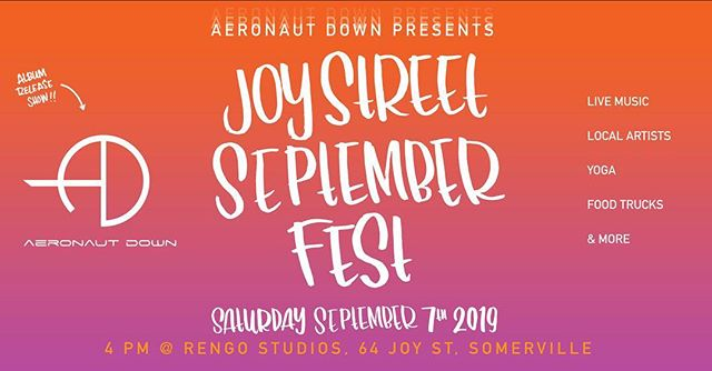 """To celebrate our album release, we're throwing a mini arts festival in Somerville on 9/7 - check the link in our bio for details!! """"Diamond Cutter Sutra"""" will be released everywhere on 9/7!"""
