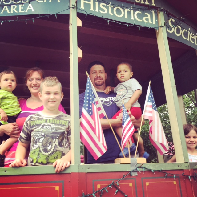 Enjoying some time on the historic train car