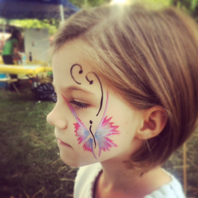 My little Beauty and her butterfly