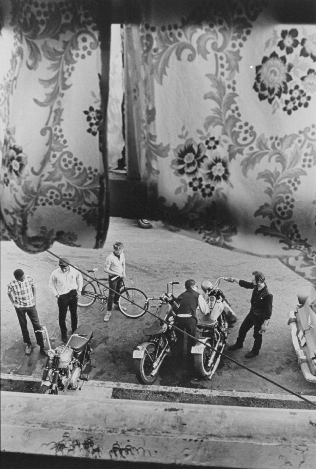 """From Lindsey's room, Louisville"" from The Bikeriders by © Danny Lyon, 1966"