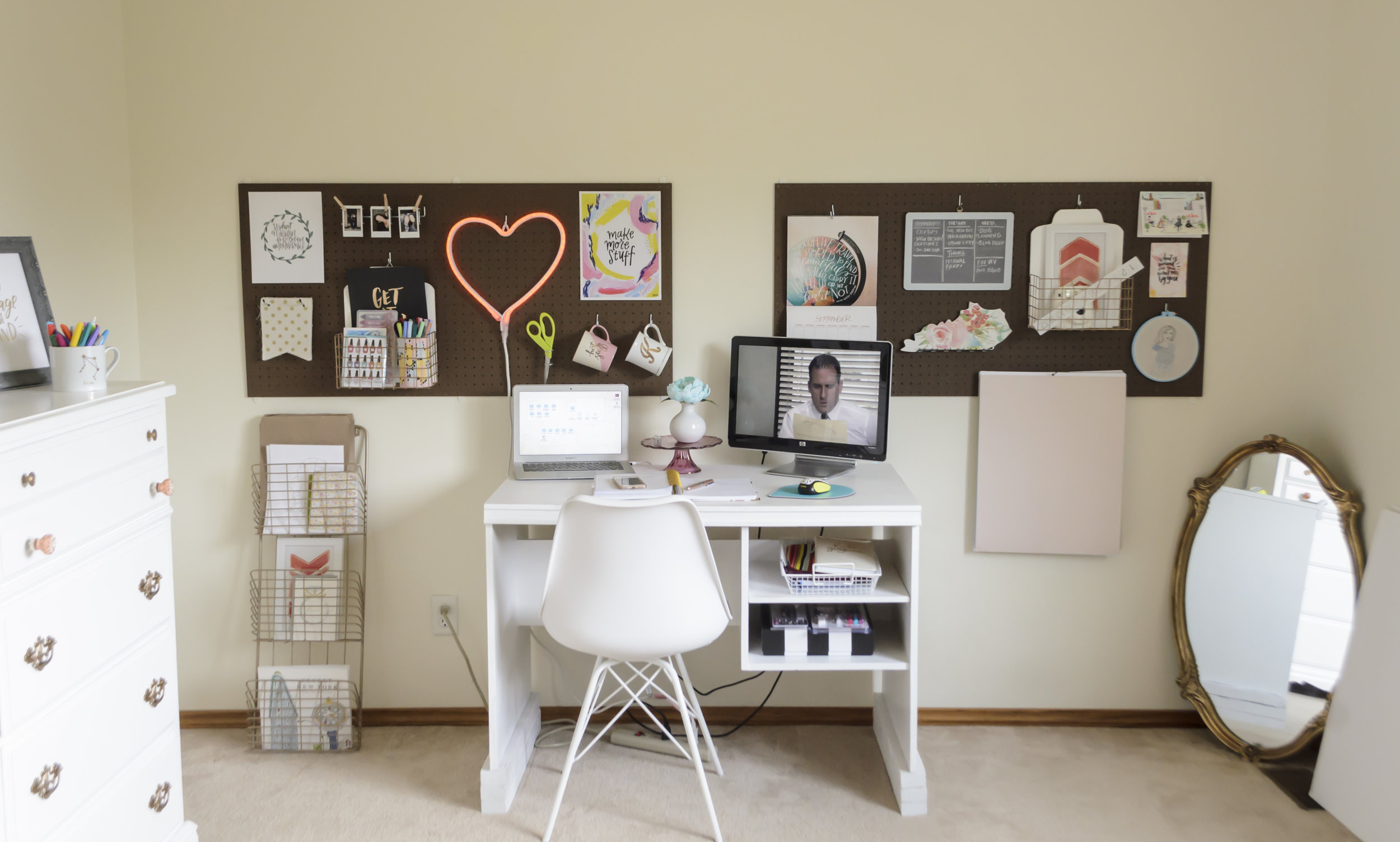 Yes, I'm watching 'The Office' while photographing and writing about my office. It seemed fitting!