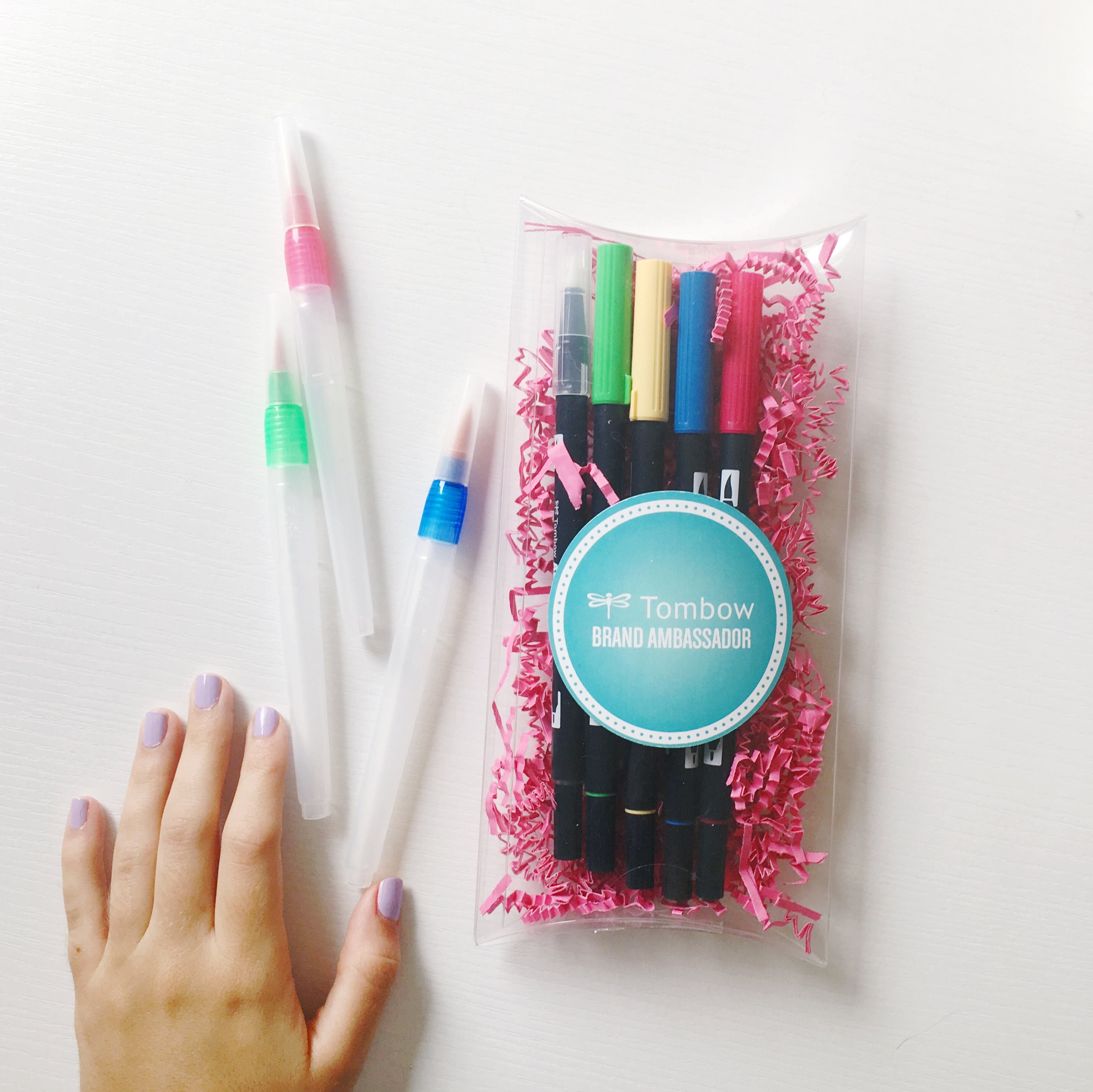 *I received this package from Tombow, as my monthly Ambassador shipment*
