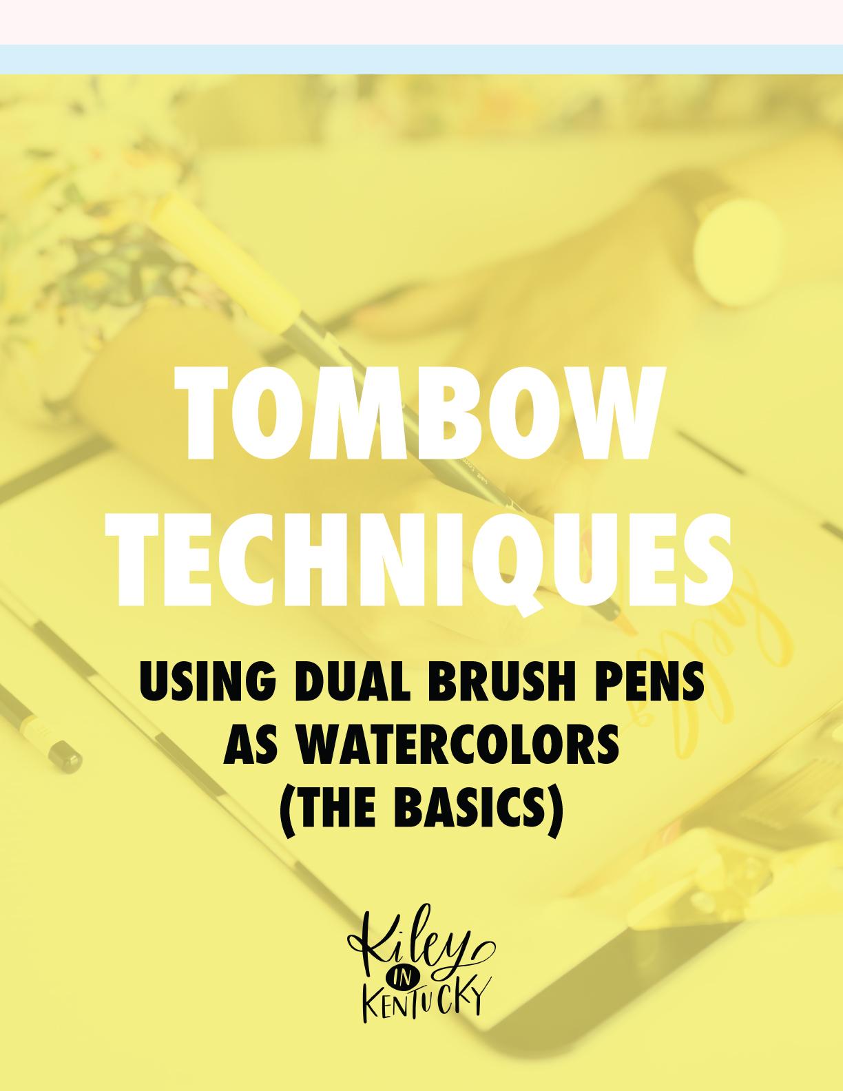 Tombow Dual Brush Pens as Watercolors