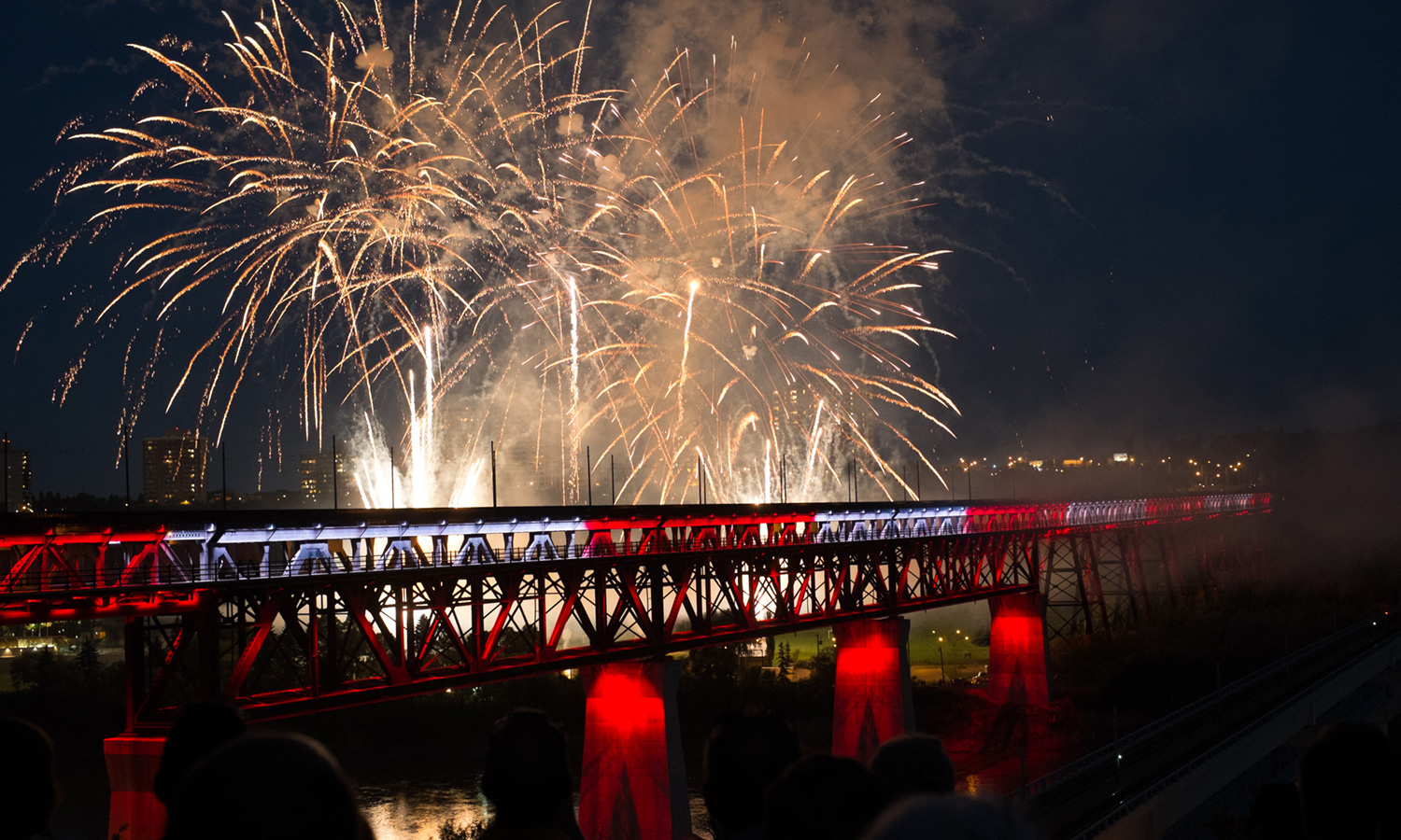 System was completed and designed note by note to synchronize the lighting to the music for the big Canada Day reveal!