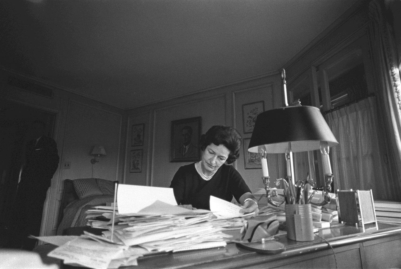 Lady Bird Johnson in her office. LBJ Library photo by Yoichi Okamoto.