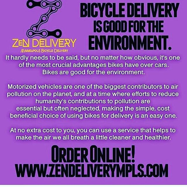 You only get one lunch today. Make sure it's from the best. #zendelivery #swaginthebag #fooddelivery #mplsfoodie #minneapolis #mpls #bikemessenger #messlife #food #foodie #foodstagram #foodgasm #foodlove #instafood #delicious #lunch #dinner #drink #eat #eatlocal #catering