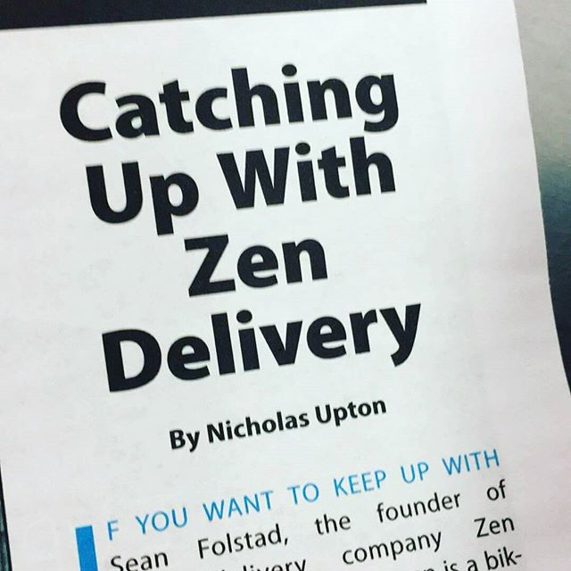 Front page swag.  Read the full article.  http://foodondemandnews.com/catching-up-with-zen-delivery/  #foodservicenews #carryshitolympics #zendelivery #swaginthebag #fooddelivery #mplsfoodie #minneapolis #mpls #bikemessenger #messlife #food #foodie #foodstagram #foodgasm #foodlove #instafood #delicious #lunch #dinner #drink #eat #eatlocal #whynot  #catering