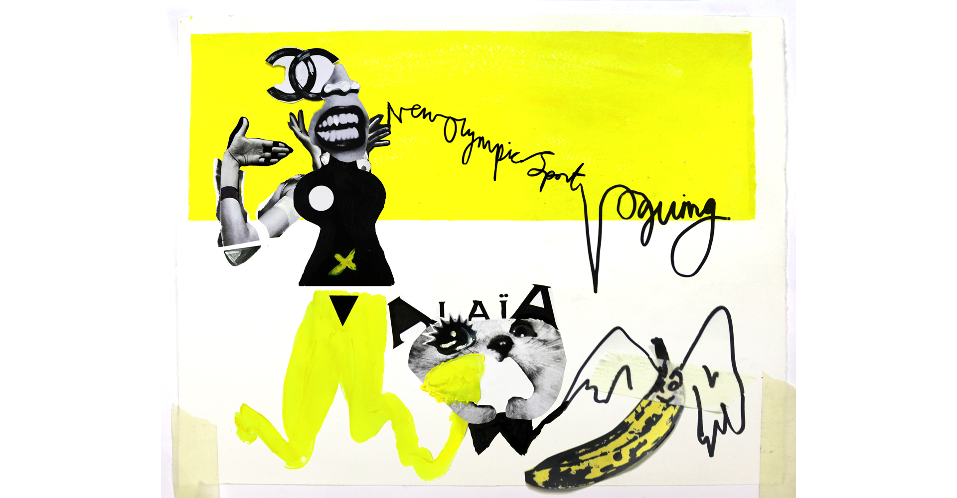 Quentin Jones x Opening Ceremony   :   Opening Ceremony founders Humberto Leon and Carol Lim give their take on the Olympics, illustrated by the striking collages of Quentin Jones.