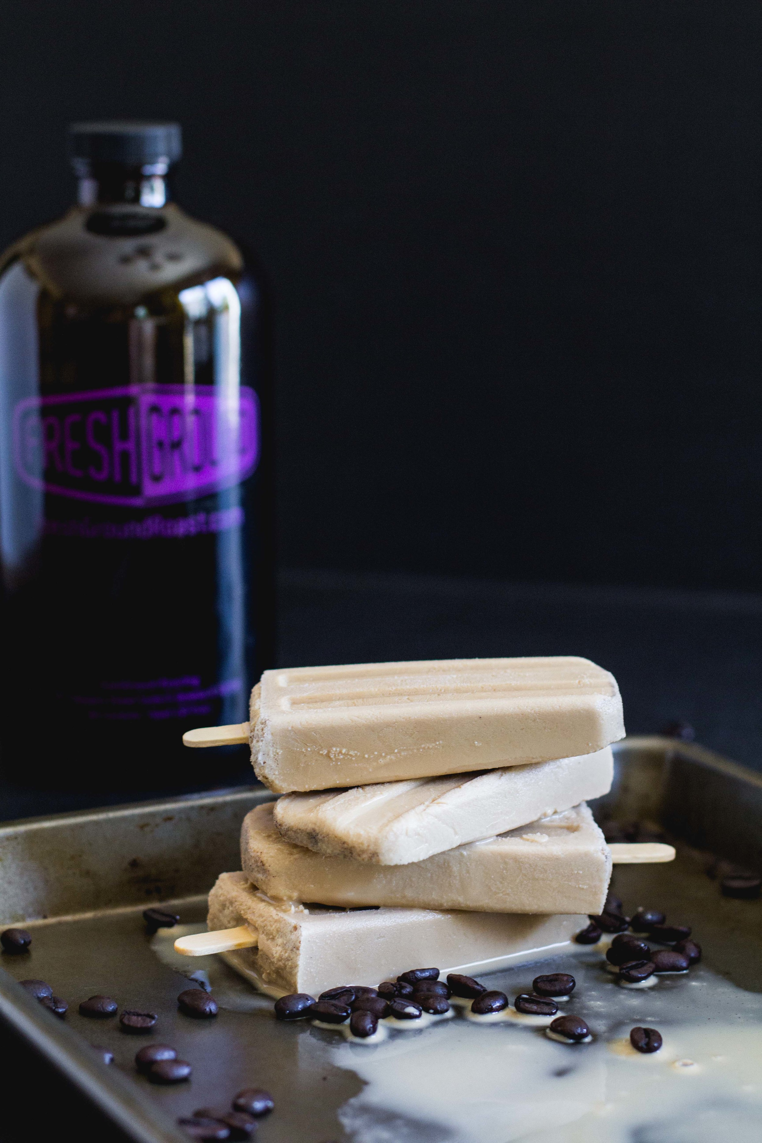 Coffee + Cardamom Popsicles — Get the recipe for this perfect, easy summer treat that takes only a few ingredients! It's made with cold brew coffee and a hint of cardamom. They're so good! Head to sarahjhauser.com! | Sarah J. Hauser | Food, Faith, Creativity + Motherhood #coldbrew #coffee #popsicles