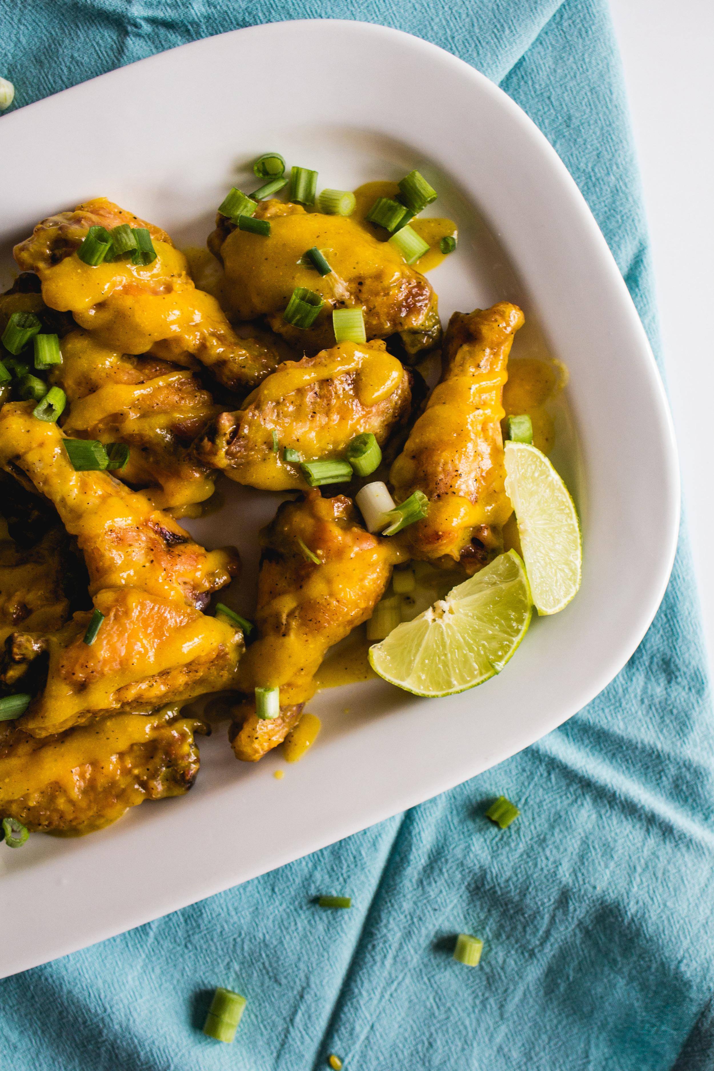 Mango Curry Wings   Sarah J. Hauser