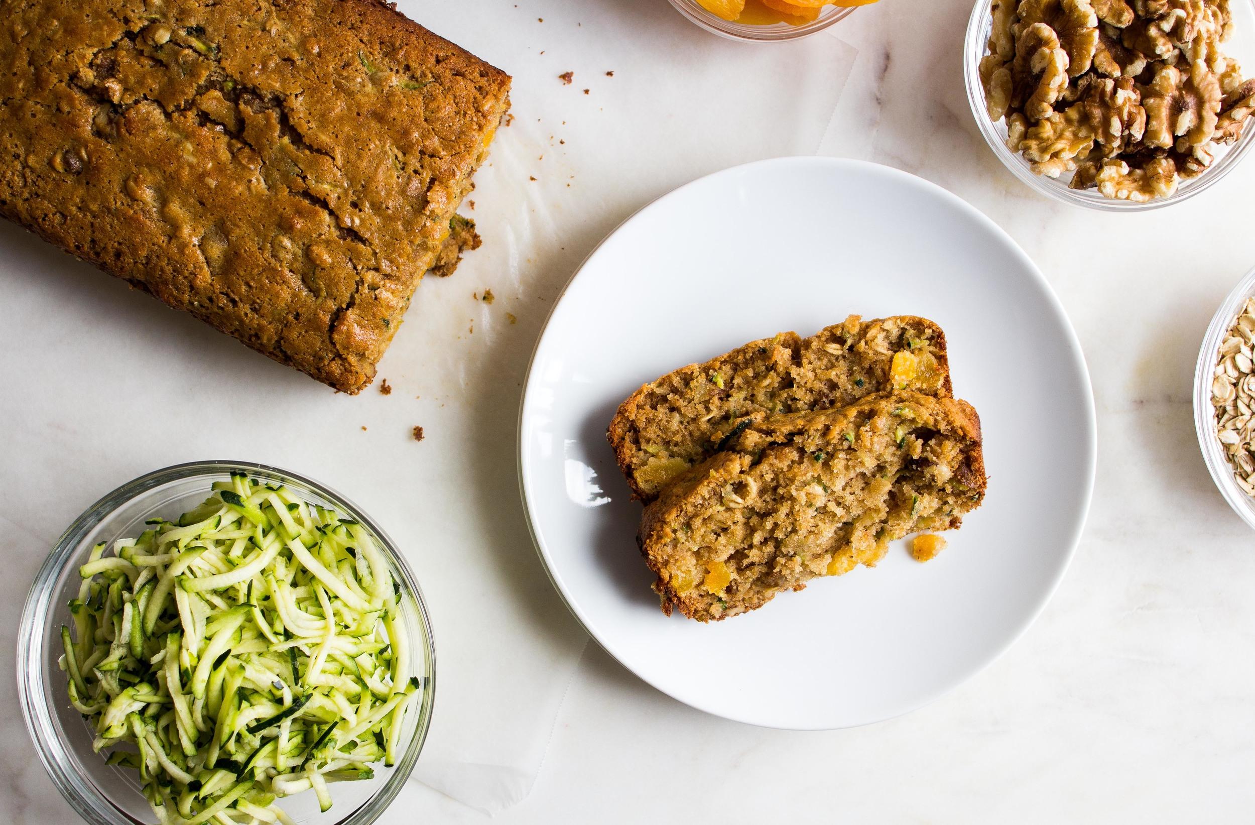 Loaded Whole Wheat + Oat Zucchini Bread