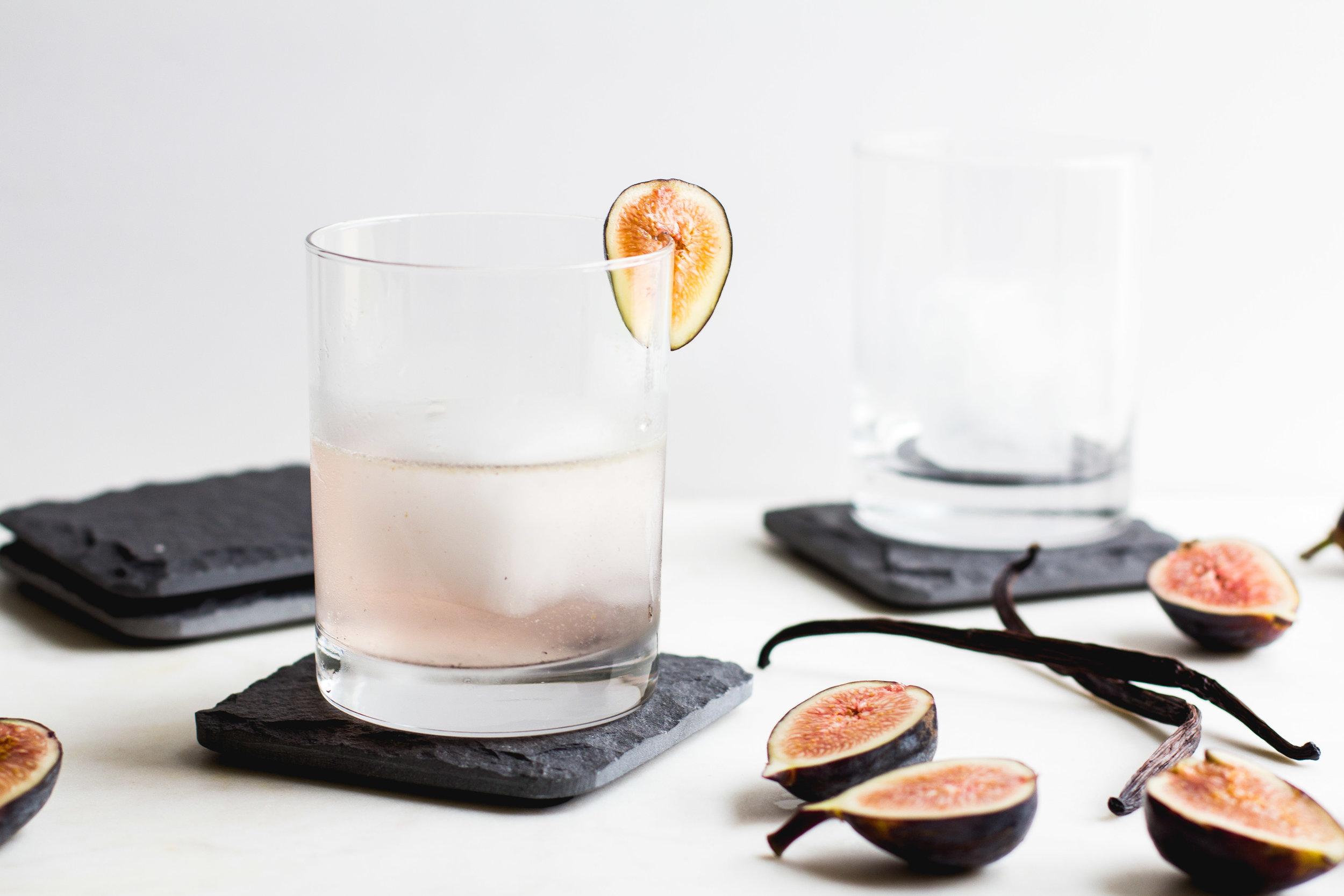 Fig, Vanilla Bean + Gin Cocktail | Sarah J. Hauser